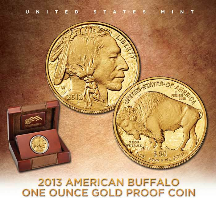 2013 American Buffalo One Ounce Gold Proof Coin The