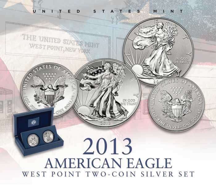 2013 American Eagle West Point Two Coin Silver Set The